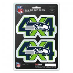 - NFL Seattle Seahawks 4x4 Team Decal, 2-Pack