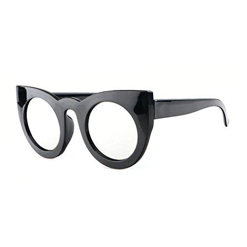 de Unique Mode Lunettes White Soleil Gadre Eye UV à Pour Protection Cat de Grand Soleil Femme Lunettes Sunglasses Black qHqIv8F