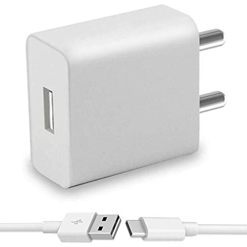 ShopReals 2A Charger with Type C Cable for Xiaomi Mi Max  White