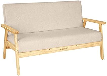 Sala 2-plazas Sofá Sofá Silla 2 Personas Sillón Sofá Asiento cómodo apartamento Sofá Sofá tapizado de Tela Salón (Talla : Two Seat)