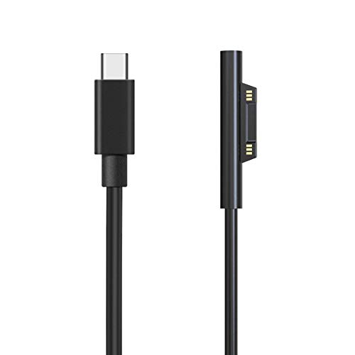 Surface Pro Connector to USB-C Charging Cable for Microsoft Surface Laptop, Surface Book, Surface Pro 6/ Pro 5/Pro 4/Pro 3, Surface Go, 6ft/1.8m Surface to USB C Charger Cable from tesha