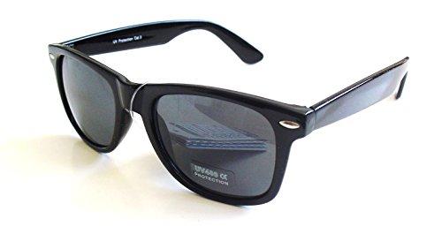 Nuevas de color de con Sol Gafas UV400 Pack 2 Negro Filtro Wayfarer adqaP