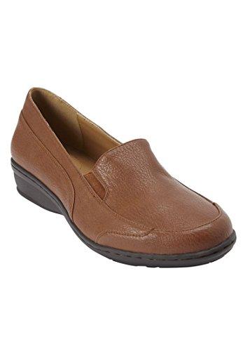 Comfortview Womens Plus Size Liana Flats Cognac d0KG4s