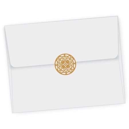 3 Pack of 2 Quality Park 21 Gold and 21 Silver Decorative Foil Envelope Seals by Maven Gifts by Essendant (Image #3)
