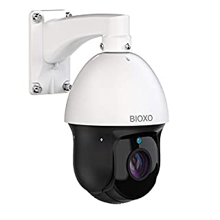 30X Zoom IP PoE+ Auto Tracking Outdoor Pan Tilt Zoom Security Camera, Bioxo 1080P High Speed ONVIF PTZ Dome Camera, 328ft Night Vision IP66 Waterproof PTZ Camera Include 64 GB SD Card