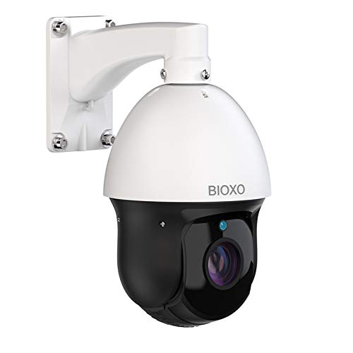 BIOXO Auto Tracking 30X Zoom PTZ Camera with 64GB SD Card, 1080P High Speed Onvif 328ft Night Vision Camera, 2 Way Audio PTZ Security Camera