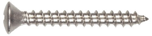 The Hillman Group The Hillman Group 1540 10 x 1-1/2 in. Stainless Steel Oval Head Slotted Sheet Metal Screw -