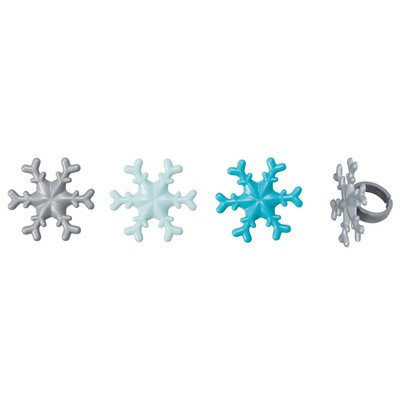Frosted Snowflake Cupcake Rings - 24 pc