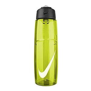 Nike T1 Flow Swoosh Water Bottle (32oz, Volt/White)