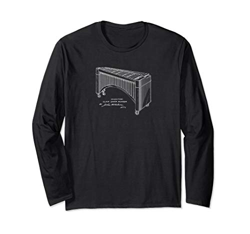 Marimba Vintage Patent Drawing Funny Novelty T-Shirt