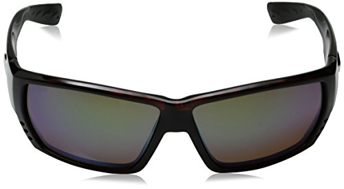 Costa del Mar Unisex-Adult Tuna Alley TA 25 OBMGLP Polarized Iridium Wrap Sunglasses Green Mirror 580 Glass Lens