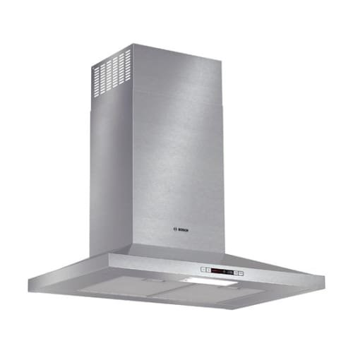 Bosch HCP30E51UC 30'' Wide Energy Star Series Pyramid Canopy Chimney Hood 300 CFM Centrifugal Integrated Blower Three Speed Touch Controls with LCD Display Aluminum Mesh Filters in Stainless by Bosch