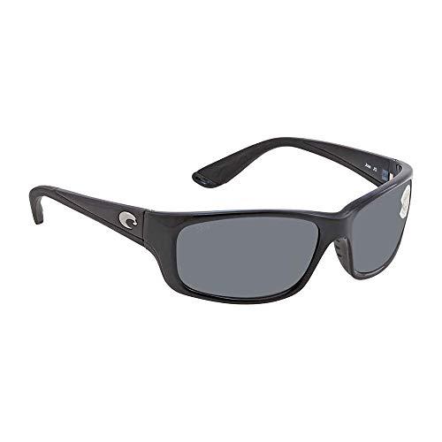 Costa Del Mar Jose Polarized Sunglasses, Shiny Black / Gray 580 Plastic