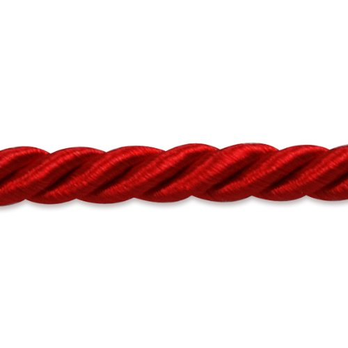 (Expo International Charlotte 3/16-Inch Twisted Cord Trim, 20-Yard, Red)