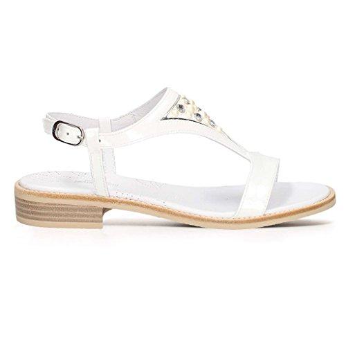 Nero Bianco Giardini Femme à Brides Chaussures qOO17wrX