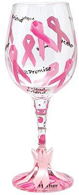 Ribbon Barbara Pink - Lolita Pink Ribbon Wine Glass GLS11-5590P