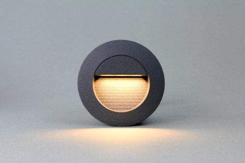 LEDmich © 1,2w LED Wandleuchte Stiegen Einbauleuchte Warmweiß Stiegenbeleuchtung für Innen und Außen Stiegenleuchte rund!
