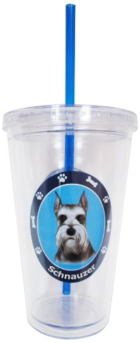 New Schnauzer Insulated 16 Oz Tumbler Double Walled Insulated NIB Screw on Lid by E&S Pets (Image #2)