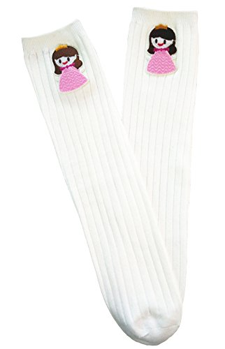Acvip Sock Toddler Cotton Pink al ginocchio Princess 6 High Little White Modello Girl Stocking 2 Years Sock rrd8zq