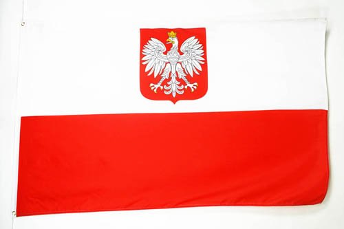 AZ FLAG Poland with Eagle Flag 3' x 5' - Polish Coat of arms Flags 90 x 150 cm - Banner 3x5 ()