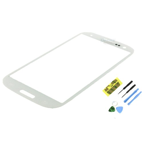 Marble White Screen Glass Lens Replacement for Samsung Galaxy SIII S3 i9300+Tool (Samsung Galaxy S3 Verizon Lcd)