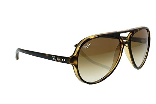 Ray-Ban Cats 5000 RB4125 Sunglasses Light Havana / Crystal Brown Gradient 59mm & Cleaning Kit (Ray Ban Rb4125 Cats)