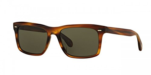 Oliver Peoples Brodsky Sunglasses, Sandalwood G-15 VFX - Oliver Pads Peoples Nose