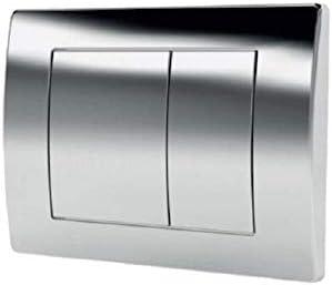 Wand-WC Sofi ohne Sp/ülrand WC-Sitz mit Soft-Close Absenkautomatik Dr/ückerplatte OS Domino Lavita Vorwandelement inkl Dr/ückerplatte mattverchromt