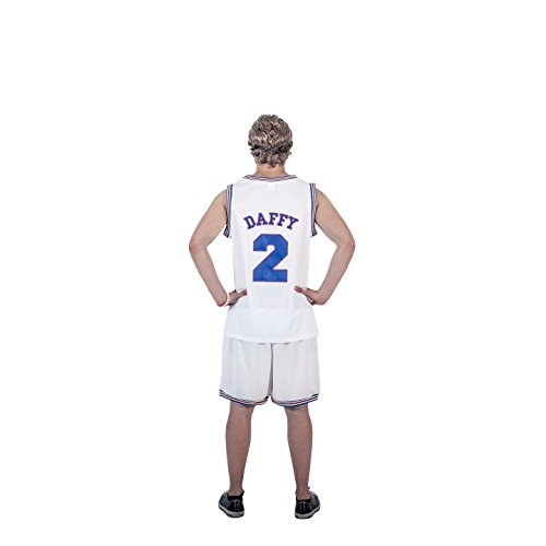 Daffy Duck Costume (Space Jam Tune Squad Logo Daffy Duck #2 White Basketball Jersey (Adult Small))
