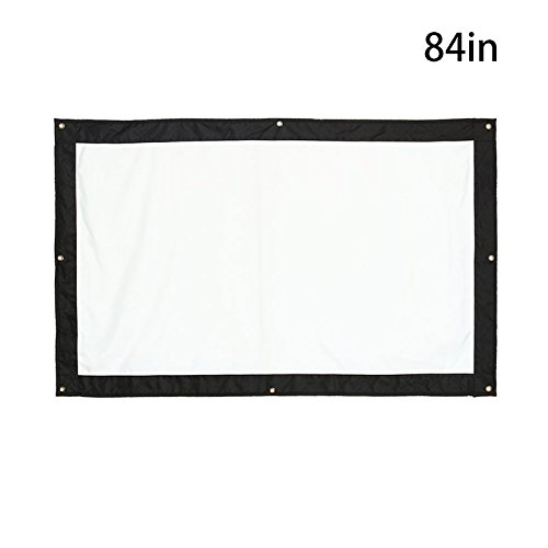 Projector Screen 84 inch Video Home Theater Folded Waterproof Professional Projector Screen_84 inch by ZZH