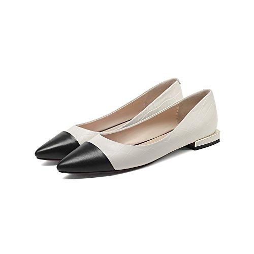 Sandali fondo Alla calzatura Donna in scarpe Da profonda e nero Moda 34 bianco appuntita piatto Singola 34 poco AJUNR bocca testa dqxYTnwdf