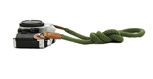 DOROM Vintage Handmade Cotton Leather Camera Neck Strap for Leica Nikon Fuji Pentax Canon Panasonic Sony (Camera Vintage Strap)