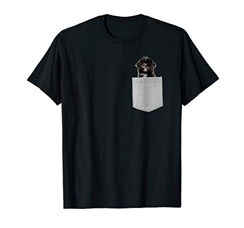 Lhasa Apso Dog In Your Pocket T-shirt