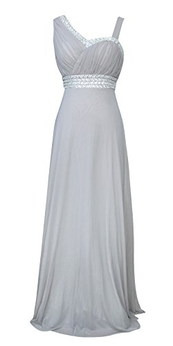 Licoco Women Sleeveless Beaded Semi Formal Long Maxi Evening Gown