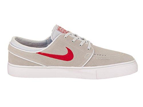 Nike Unisex Sb Zoom Stefan Janoski In Pelle Rosso Scuro / Sneaker Sintetico Platino Puro / Rosso Università