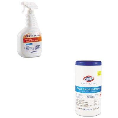 KITCOX30649COX35309 - Value Kit - Clorox Broad Spectrum Quaternary Disinfectant Cleaner (COX30649) and Clorox Germicidal Wipes (Quaternary Germicidal Cleaner)