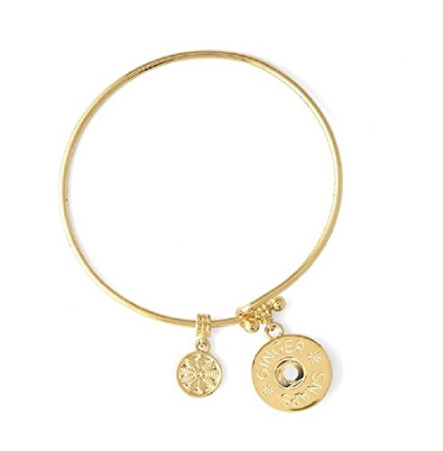 Standard Gold 68 (Ginger Snaps Simulated Gold Wire Bangle Bracelet SN95-68 (Standard Size) Interchangeable Jewelry)