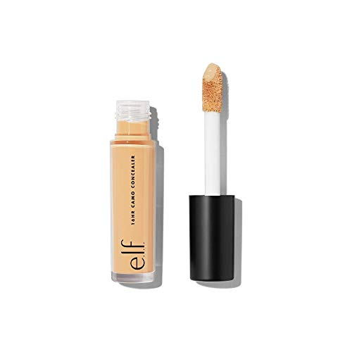 e.l.f, 16HR Camo Concealer, Full Coverage, Lightweight, Conceals, Corrects, Contours, Highlights, Light Beige, Dries…