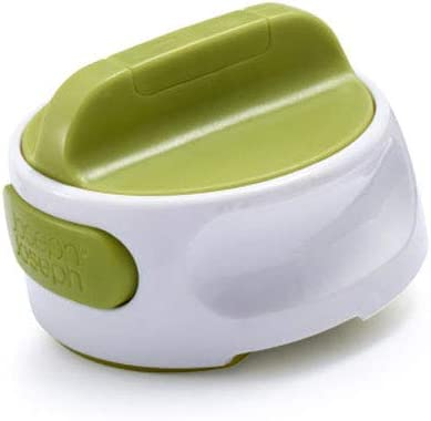 White Joseph Joseph 20098 Can-Do Plus Compact Can Opener Manual Easy Twist Pull Tab Stainless Steel Portable Space-Saving