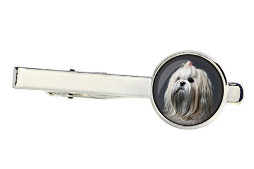 Lhasa Apso Dog Photo (Lhasa Apso, Tiepins for dog lovers, Photo-Jewelry, Jewelry for Men, Handmade)