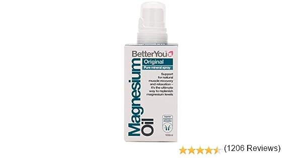 Better You Magnesio Aceite Spray Corporal 100Ml - 500 g: Amazon.es ...