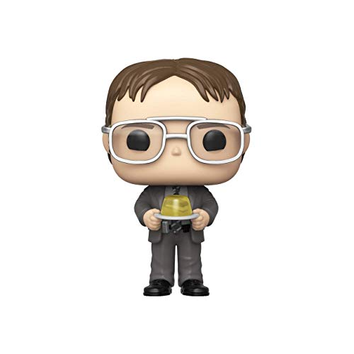 Funko 48498 Pop TV The Office S2-Dwight con Grapadora de gelatina de Juguete Coleccionable, Multicolor