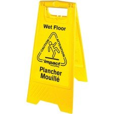 (Impact Products English/Spanish Wet Floor Sign - 1 Each - Caution Wet Floor Print/Message - 1