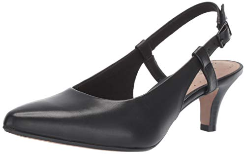 - CLARKS Women's Linvale Loop Pump Black Leather 095 W US