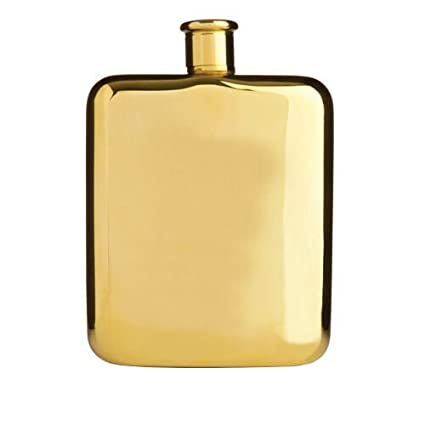 True Fabrications Belmont Gold Plated Flask by Amazon