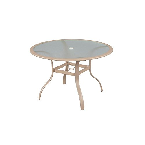 Hampton Bay Westin Commercial 44 in. Round Patio Dining Table (Furniture Pacific Bay Outdoor)