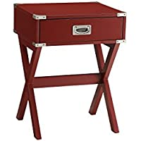 ACME Furniture Acme 82820 Babs End Table, Red, One Size