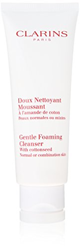 Clarins Gentle Foaming Cleanser with Cottonseed for Unisex, Normal to Combination Skin, 4.4 Ounce