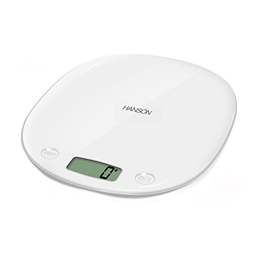 - HANSON 1-Piece 5 Kg Medium Plastic HMac Electronic Aquatronic Kitchen Scale, White