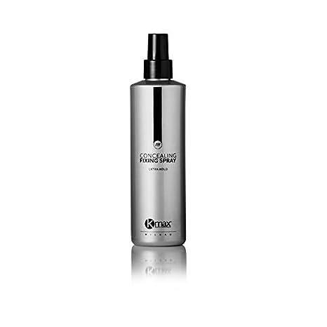 Spray fijador K-Max, 250 ml. Es un spray/laca sin gas creada específicamente para aumentar la fijación de las fibras capilares de K-Max en el cabello.
